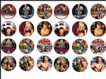 24  WWE Wresting Wrestlers Wafer Rice Paper CakeToppers